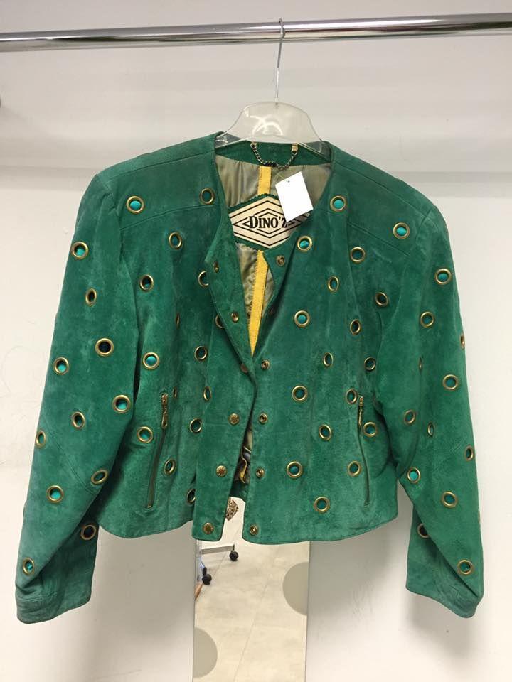 Unieke groene jas van Dino'z