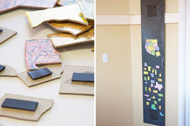 35 Clever Ways To Repurpose A Map via Brit + Co