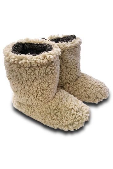 Live Oak Brand Sherpa Fleece Booties for Women in Oatmeal
