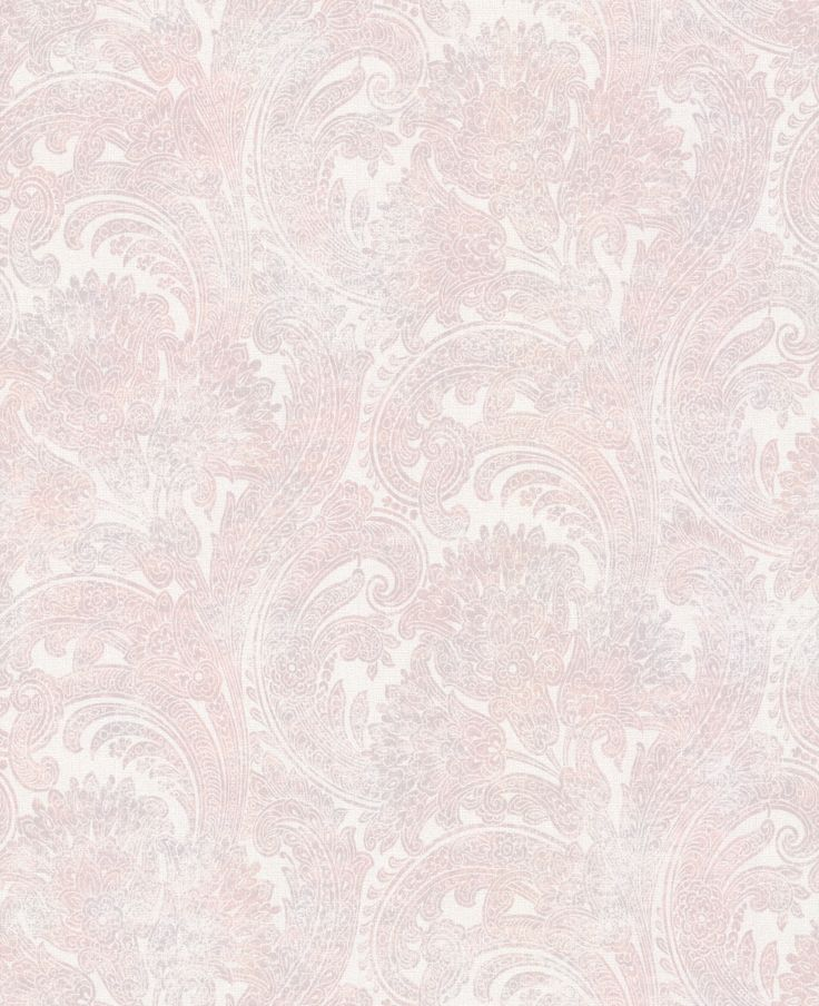 Galerie Pretty Paisley Pink / Grey Wallpaper main image