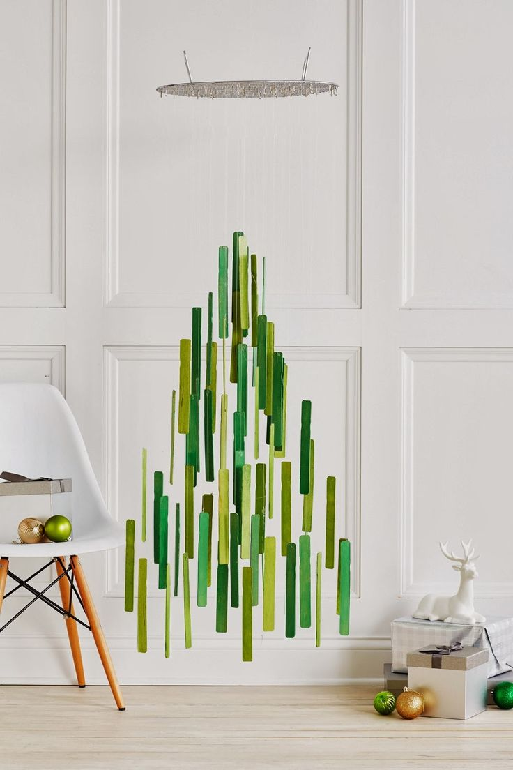 альтернатива новогодней елке, новогодняя елка своими руками, креативная новогодняя елка