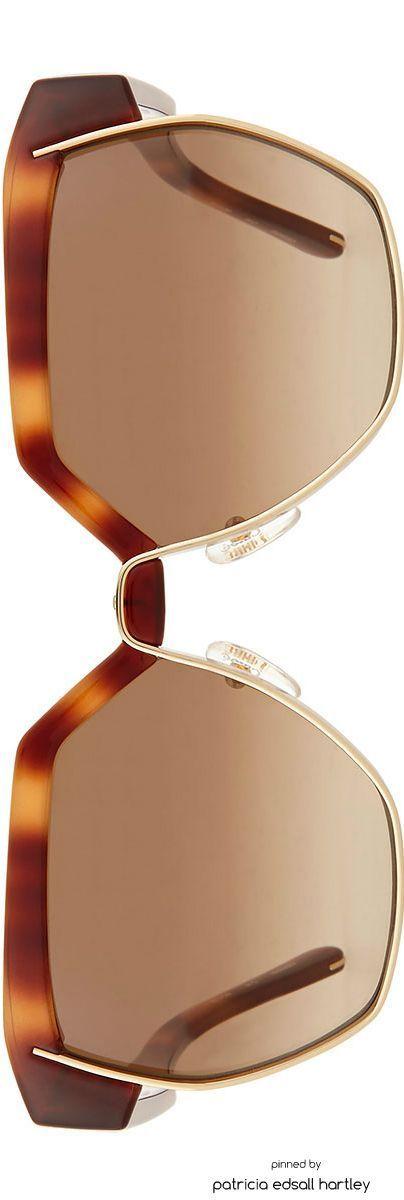 Chloe Universal Fit Dafne Hexigonal Sunglasses