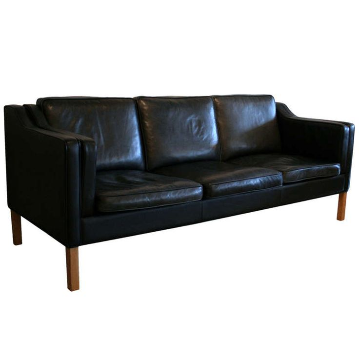 Sofa Sleeper View this item and discover similar sofas for sale at A classic Scandinavian design in the style of Borge Mogensen Top grain black leather in excellent