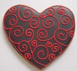 Heart w/scrolls