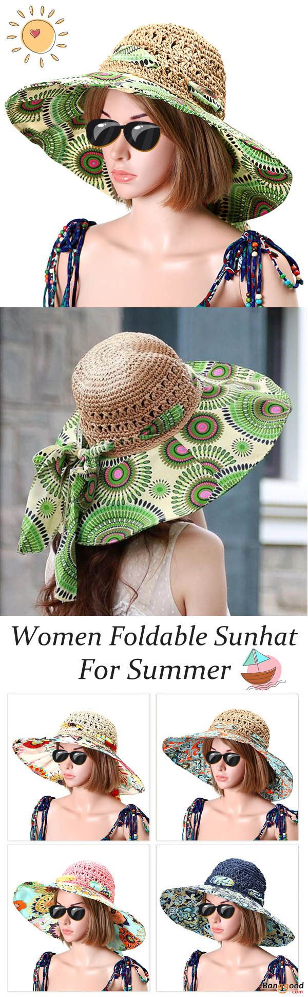 US$11.99+Free shipping. Women Foldable Sunhat, Beach Hat, Sunscreen Visor Cap, Sports Cap. Wide Brim, Breathable, UV-Protection. Varies of colors for your choice.