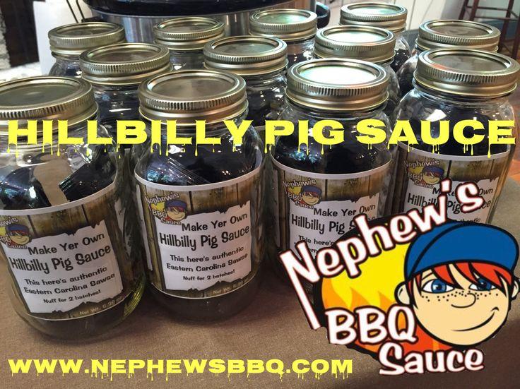 Hillbilly PIG Sauce by Nephews.. www.nephewsbbq.com
