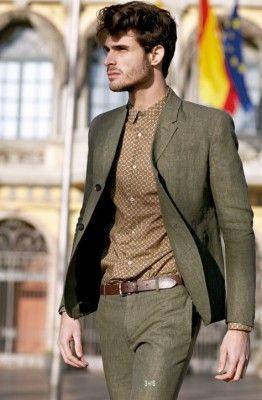 Formal friday - het groene pak - Manners.nl