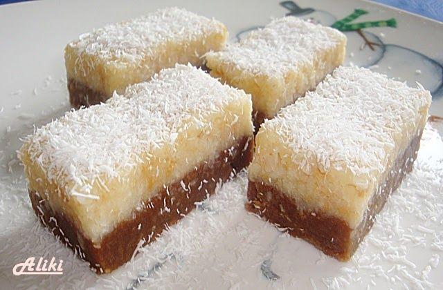 Sastojci   tamni deo   1 dcl. mleka  150 g. šećera  125 g. maslaca ili margarina  1 kesica vanilin šećera  1 kašika kakao  300 g. mleveno...