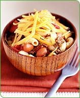 Chili Mac - Cooking a large portion of Chili Mac could feed your family for a week!