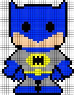 Tutoriales y DIYs: Punto de cruz - hama beads - Batman y Robin