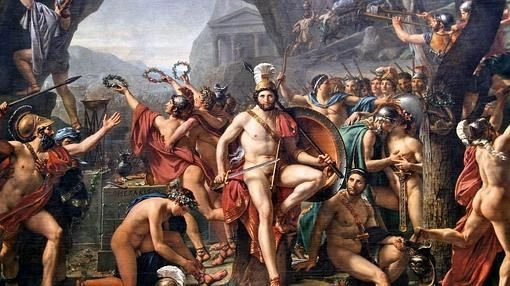 Leónidas en las Termópilas, por Jacques-Louis David