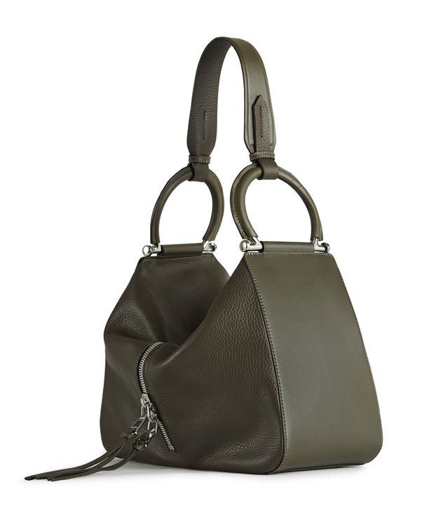 REISS - BROADWICK LEATHER SHOULDER BAG