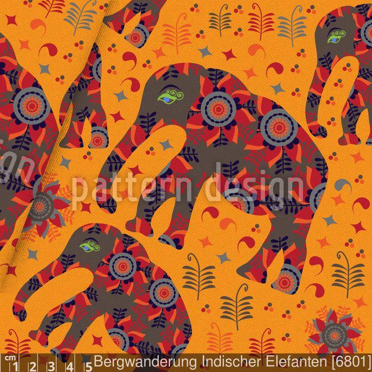 Indische Elefanten Baumwollstoff versandkostenfrei ab 0,5m