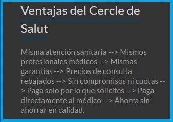Medicina privada en Mallorca. Descuentos exclusivos en servicios y tratamientos médicos por inscripción gratuita en www.cercledesalut.es