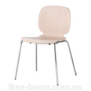 """IKEA """"СВЕН-БЕРТИЛЬ"""" Стілець, береза, Брур-Інге хромований - фото"""