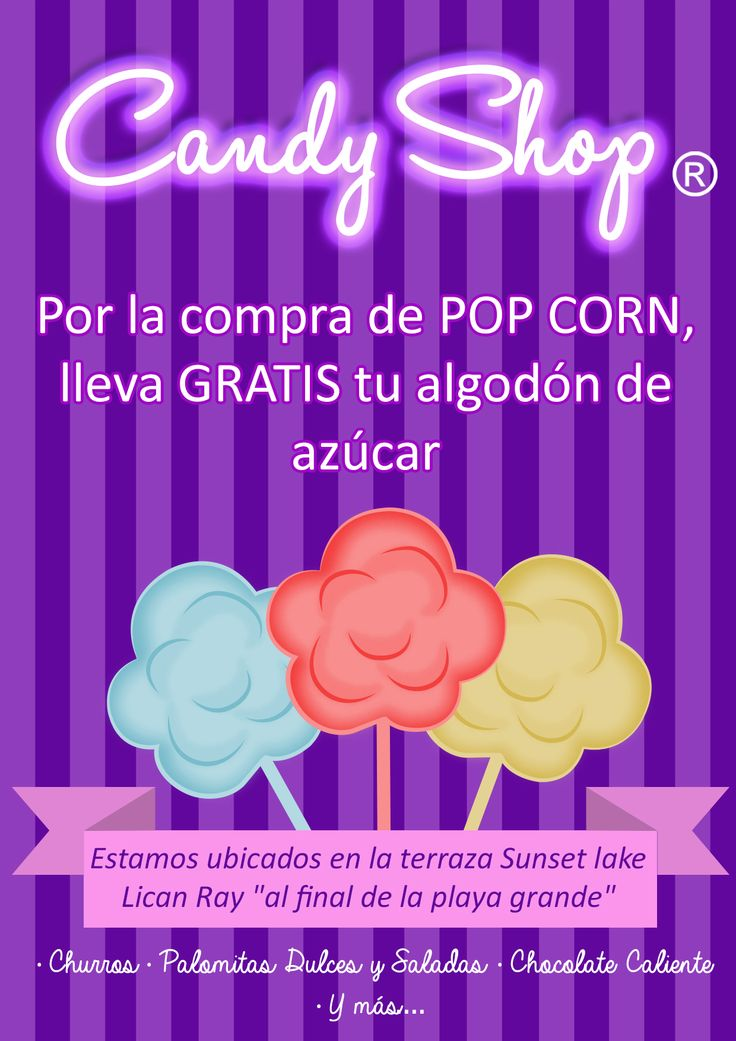 Flyer Candy Shop