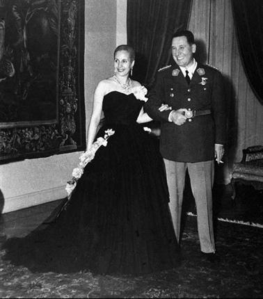 """""""A la única reina que vestí es a Eva Perón"""", declaró en una entrevista Christian Dior. Foto: Archivo"""