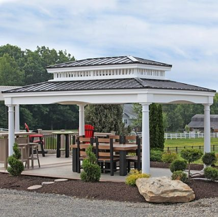 Amish Made Cabinfield Deluxe Vinyl Pavilion