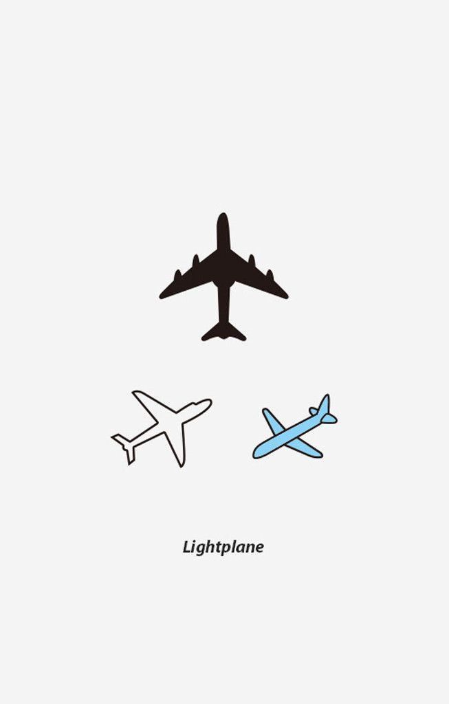 Light Plane Temporary Tattoo - BKBT Concept
