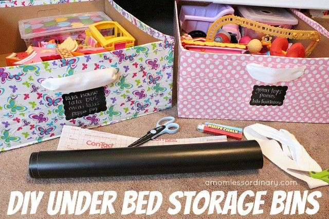 I used @Extra Space Storage Moving Boxes to make DIY under bed storage bins for my kids' room. It's easy, affordable, and a great solution for too many toys (especially if your kids share a room like mine do).