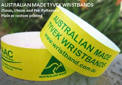 25mm Custom Tyvek - 500 only $216 - if you order more they get cheaper per band!