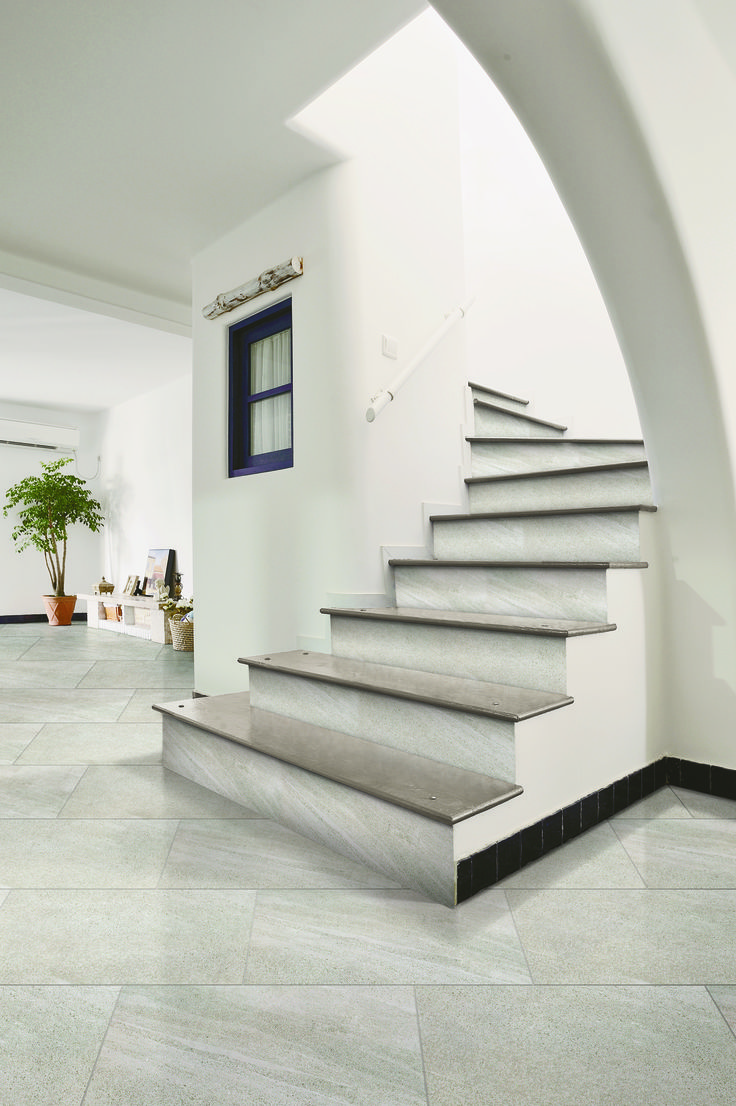 SAHARA SERIES (SHA601)  Elegant and good looking sandstone stairs with SHA601.  #design #stairs #series #sahara #sandstone #floordesign #floor #flooridea
