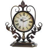 "Found it at Wayfair - 12.8"" x 11.2"" Metal Decor Tabletop Clock"