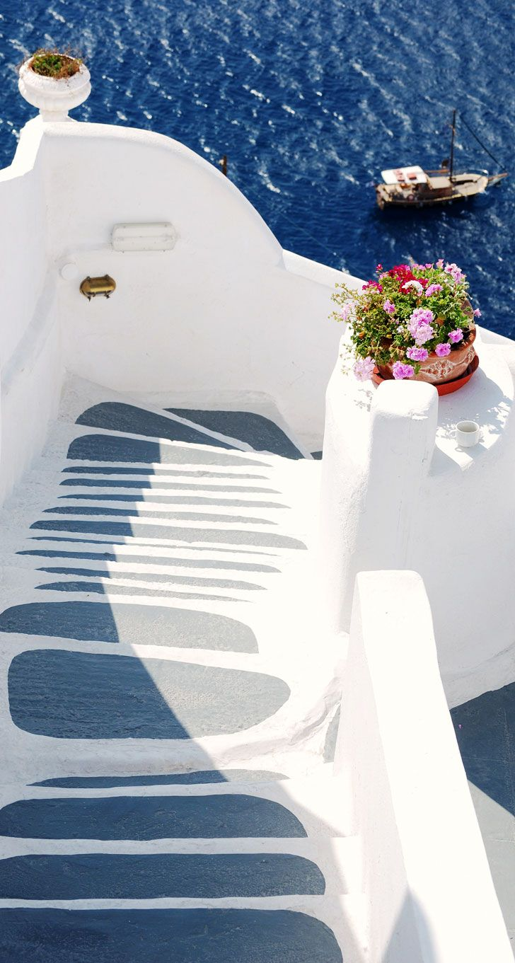 Caldera steps, Oia, Santorini , Greece