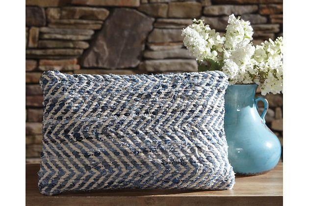 blue white argos pillow by ashley homestore cotton. Black Bedroom Furniture Sets. Home Design Ideas