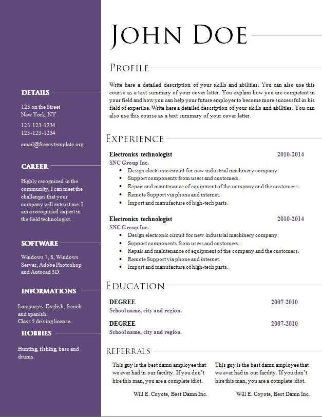 picture regarding Openoffice Templates Resume named Cv Template Open up Business office Wonderful Towards Realize Resume template