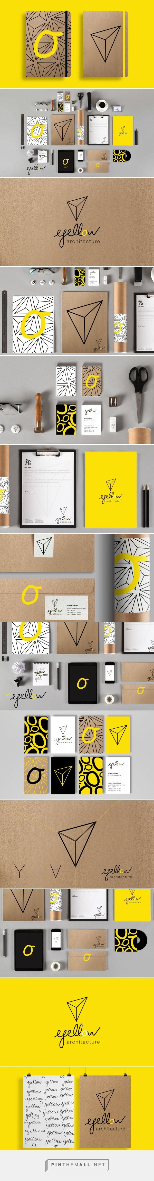 branding inspiration black & white + amarelo + craft formas geométricas