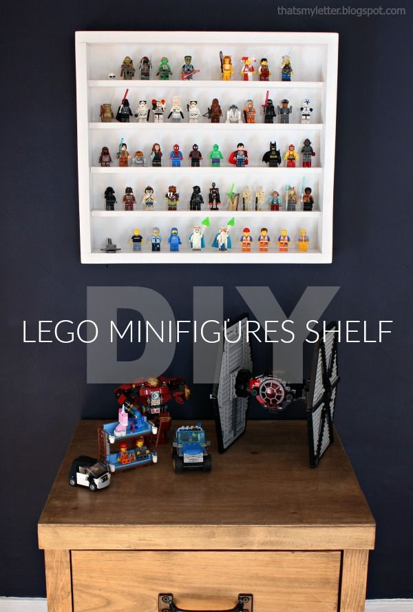 Diy Lego Minifigures Shelf With Free Plans Shelves Oil