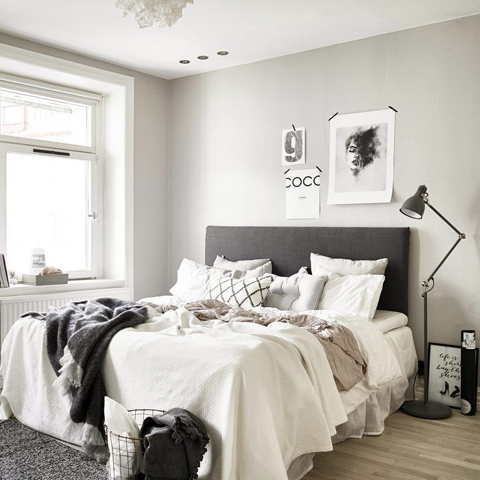 The scandi bedroom as we like it. Simple, bright and cozy. #interior #furniture #bedroom #bed