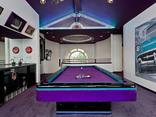 Purple Full Size Pool Table