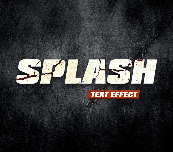 Free designs - Splash text effect