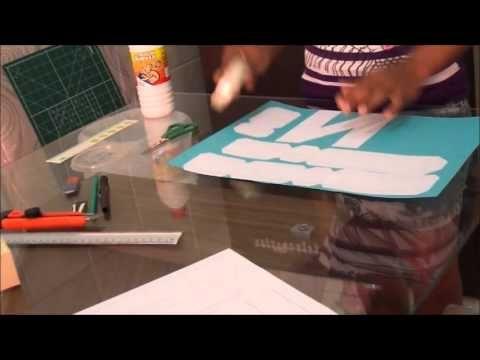 Faça você mesmo (DIY) - letra 3D de papel passo a passo - Favo de Mel - YouTube