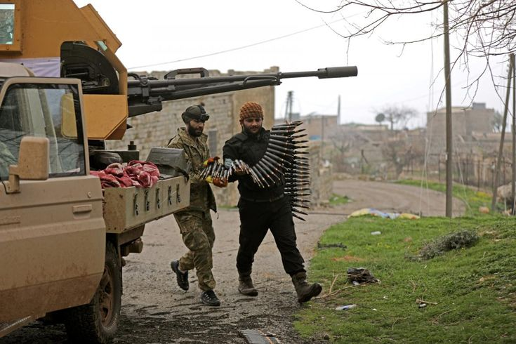 2/23/18 The Turkish army struck a convoy entering Syria's Kurdish-held Afrin region, which Ankara said carried fighters and weapons but Kurdish forces said was made up of civilians entering with food and medicine.