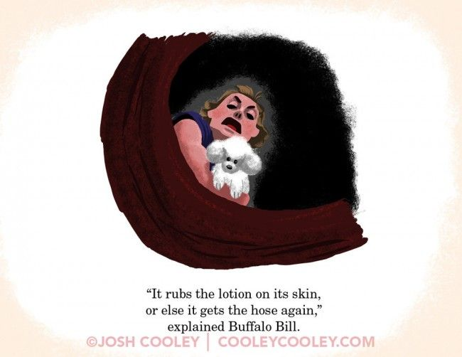 Silence of the Lambs - Josh Cooley A Pixar Artist Turned 25 Classic R-Rated Movies Into Kid-Friendly Drawings - http://www.uproxx.com