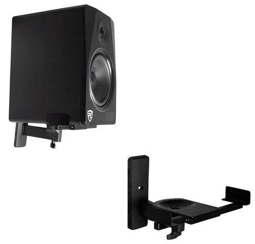 2 Rockville Wall Mount Swivel Brackets For Krk Rp4g3w Studio Monitor Speakers Speaker Wall Mounts Speaker Brackets Studio Monitors