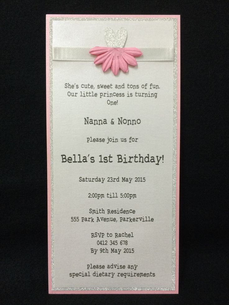 Invitation - Kids Birthday - Pink Ballerina - Bella