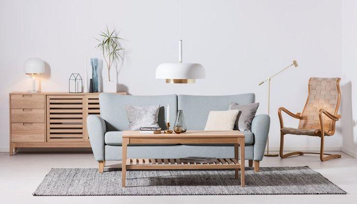 JULIA byggbar soffa, PATRONEN fåtölj, LIGHT sideboard och soffbord #SvenskaHem #Stilrent #Byggbar #Soffa #Brunstad #Sadelgjord