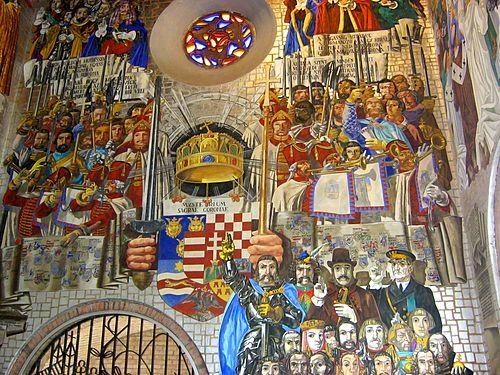 Székesfehérvár-Szent István Mauzóleum nagyméretű falfestménye (Aba Novák Vilmos)