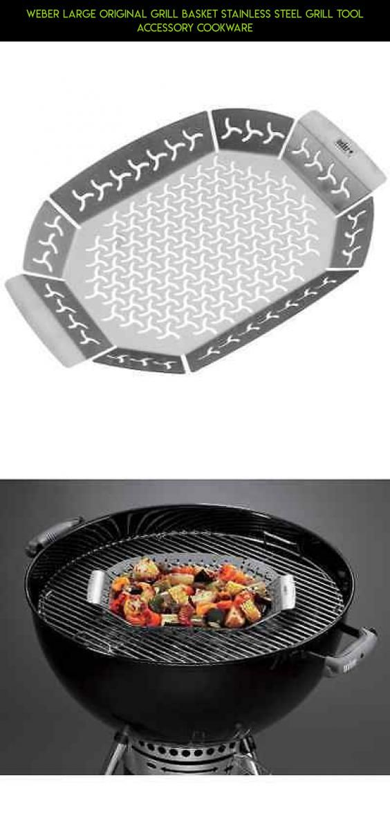 Weber Large Original Grill Basket Stainless Steel Grill Tool Accessory Cookware #gadgets #tech #kit #racing #technology #camera #accessories #weber #grills #products #plans #drone #shopping #parts #fpv