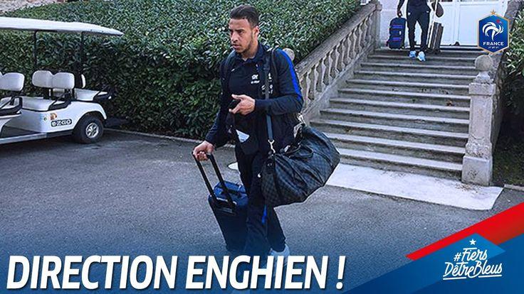 Les Bleus sont arrivés à Enghien pour se rapprocher du Stade de France! Dernier entraînement avant France-Espagne prévu en fin d'après-midi! Vos places pour