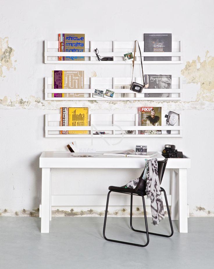 Półka wisząca biała - Be Pure - Nordic Decoration Home