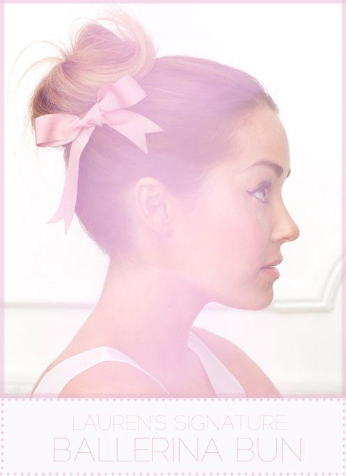 ballerina bun #laurenconrad #topknot #hair #bow #girly