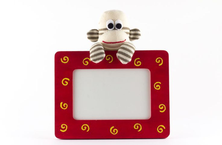 Sock monkey dry erase whiteboard - cute office decor - office desk accessory - cubicle decor - message board - teacher gift - red - medium by ToriNgDesigns on Etsy