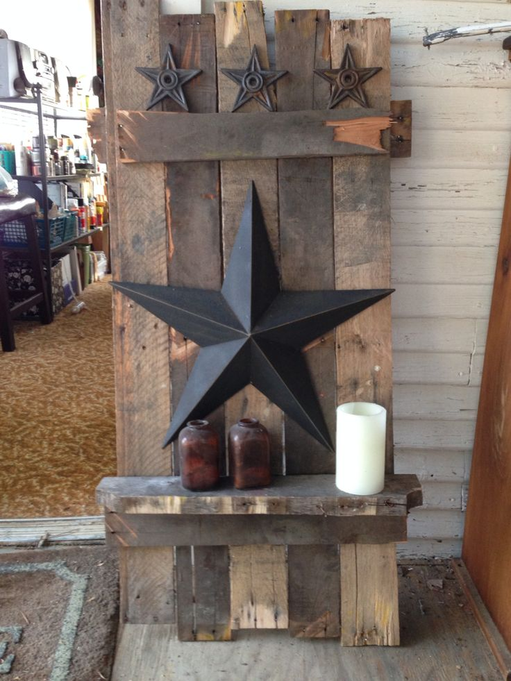 Pallet project with stars