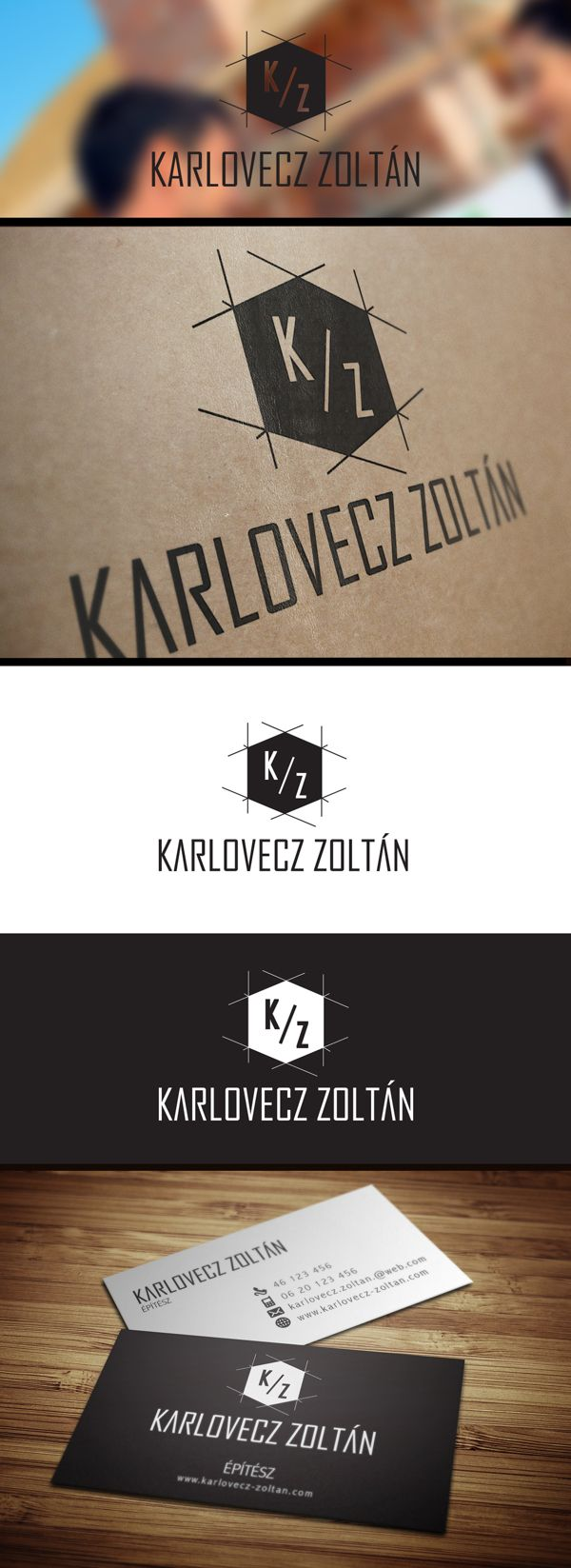 K.Z Architect logo by Attila Nagy, via Behance