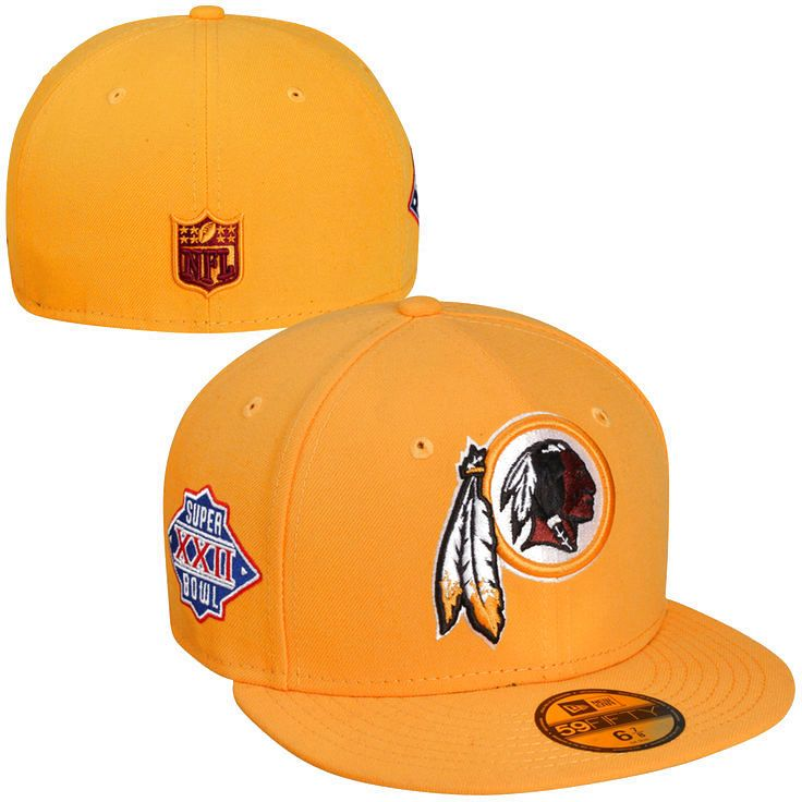 New Era Washington Redskins Super Bowl XXII Side Patcher 59FIFTY Fitted Hat - Gold - $19.94